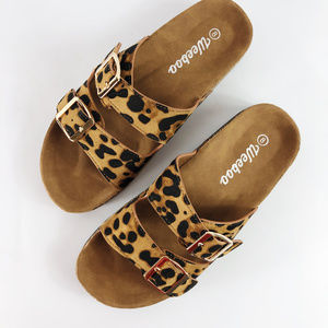 [WEEBOO] Summer Sandals Two Strap Leopard